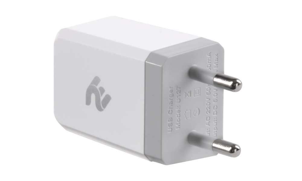 NETWORK CHARGER 2E WALL CHARGER 1USBX2.1A WHITE 2E-WC1USB2.1A-W