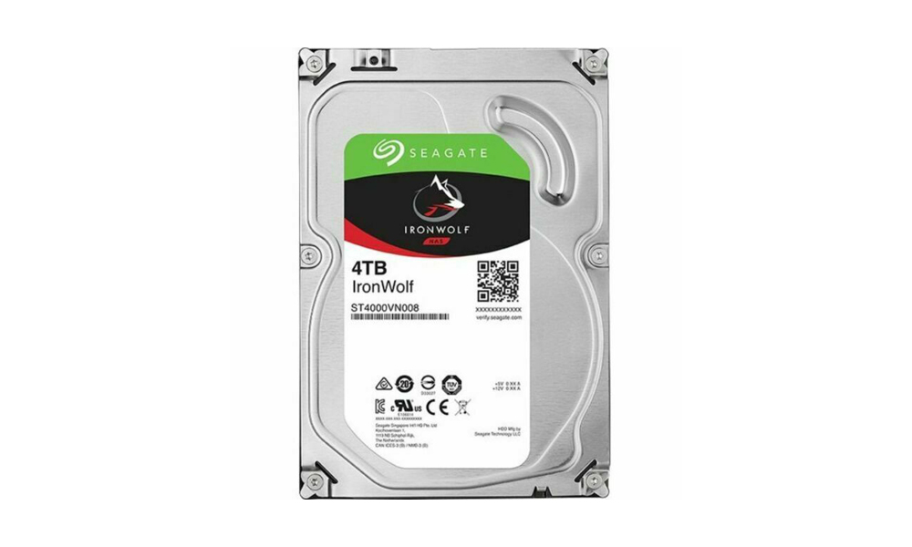 SEAGATE IronWolf HDD SATA 4TB 5900RPM 6GB/S 64MB ST4000VN008