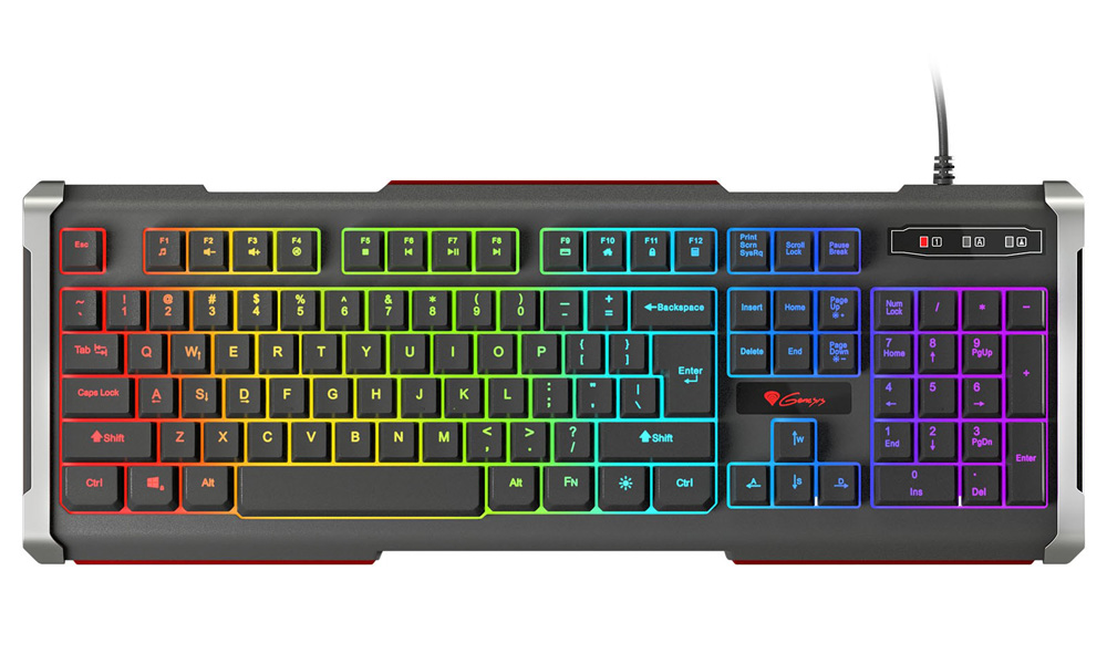 Genesis Gaming Keyboard Rhod 400 RGB RU Layout with RGB Blacklight Windows XP, Vista, 7, 8, 10, USB