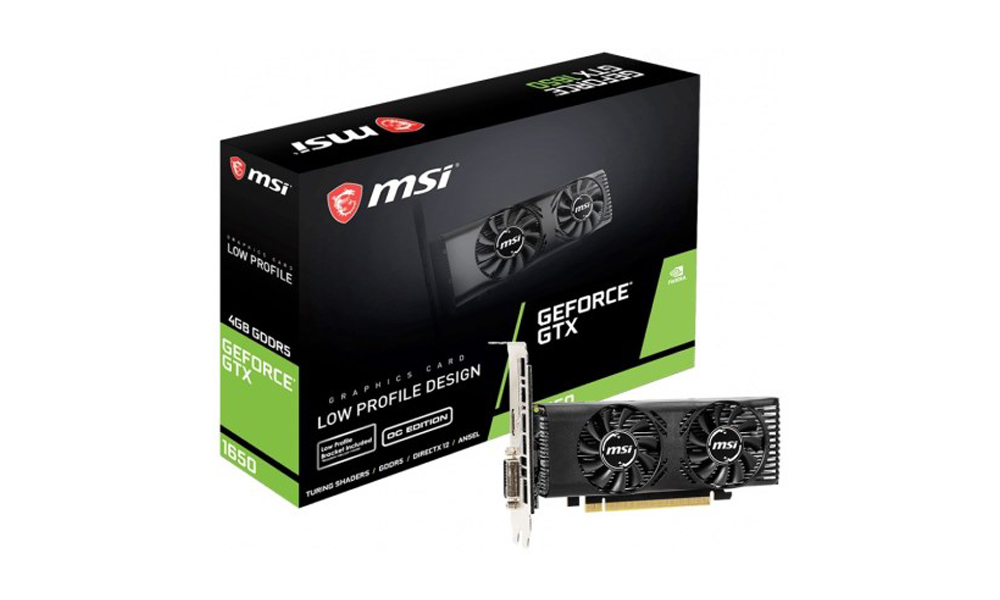 MSI GeForce GTX1650 4GB DDR5 OC Low Profile GF_GTX1650_4GT_LP_OC  (246)