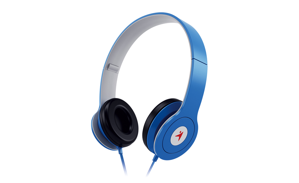 Genius HS-M450 On-Ear Headphones with Microphone BLUE