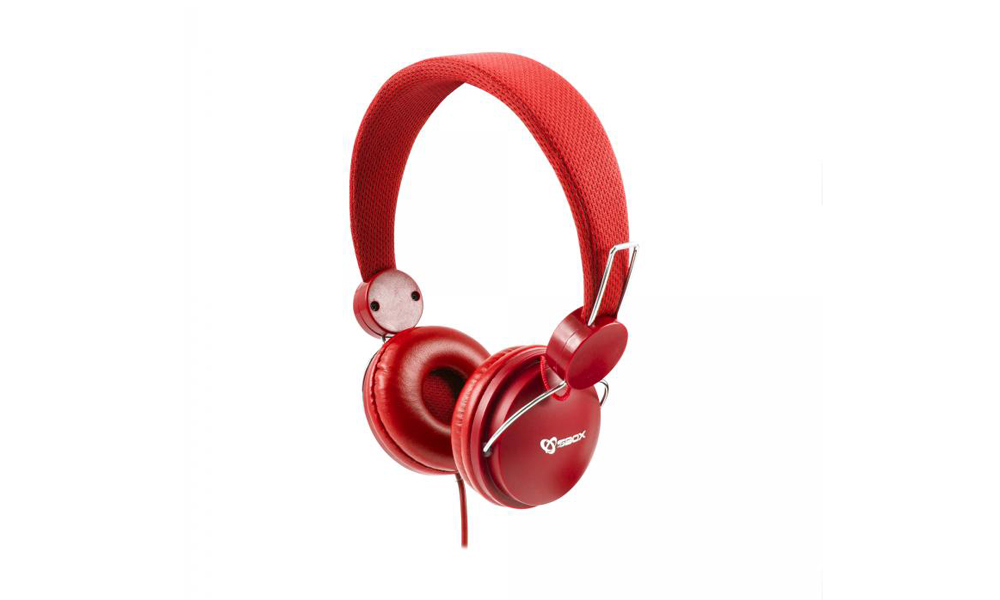 SBOX Headphone HS-736 Cable: 1,8m Red