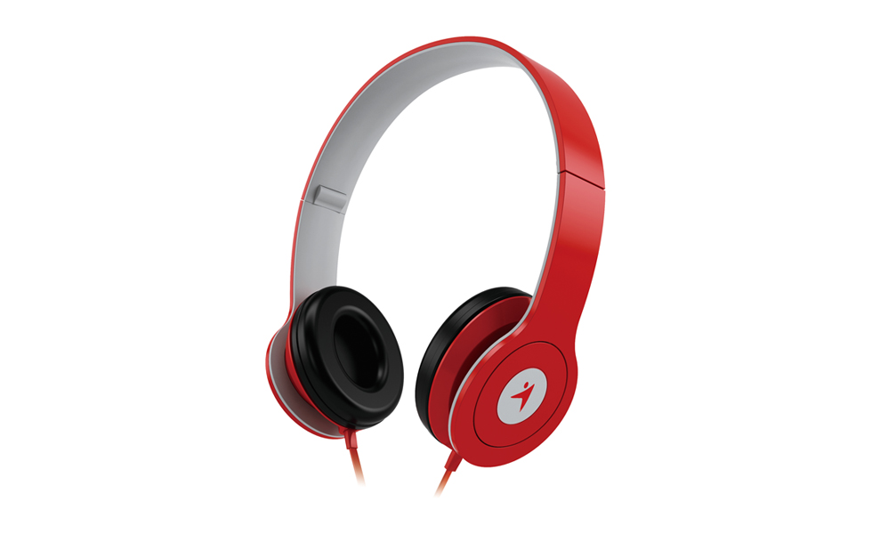 Genius HS-M450 On-Ear Headphones with Microphone RED