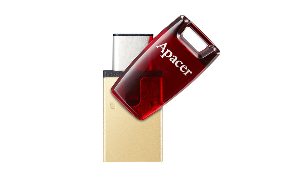 Apacer USB 3.1 Type-C Mobile Flash Drive AH180 64GB Red RP AP64GAH180R-1