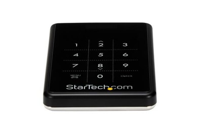 StarTech Encrypted Drive Enclosure for 2.5in SATA SSDs / HDDs - USB 3.0