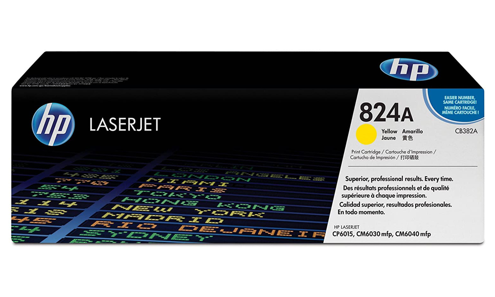 HP 824A Yellow Original LaserJet Toner Cartridge CB382A