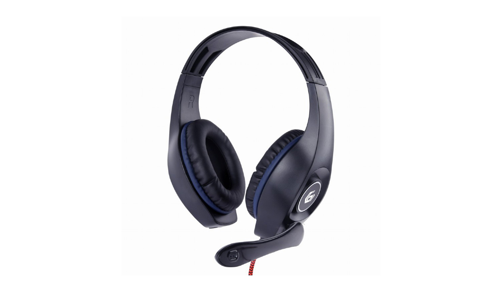 Gembird Gaming headset with volume control, blue-black, 3.5 mm GHS-05-B