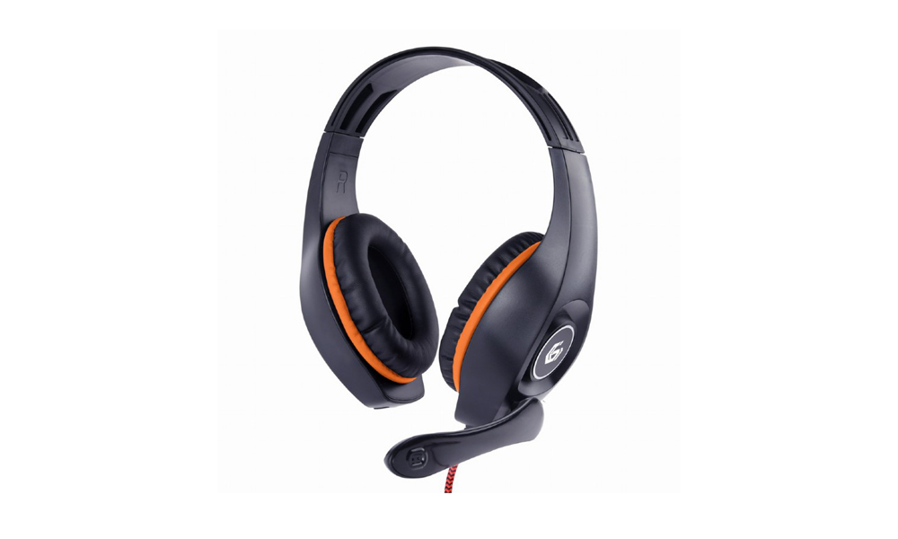 Gembird Gaming headset with volume control, orange-black, 3.5 mm GHS-05-O