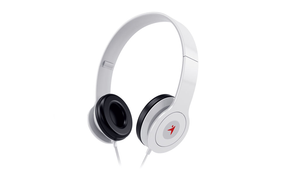 Genius HS-M450, On-Ear Headphones with Microphone WHITE