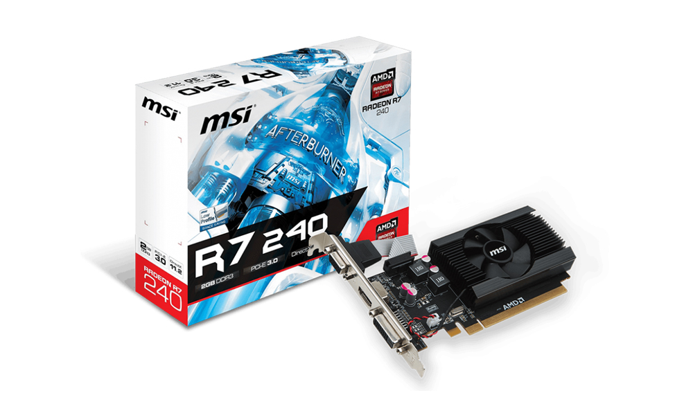 MSI Radeon R7 240 2GB DDR3 low profile 64bit R7_240_2GD3_64B_LP  (246)