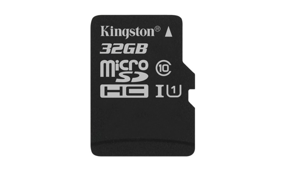 Kingston 32GB microSDHC Canvas Select 80R CL10 UHS-I Single Pack w/o Adapter SDCS/32GBSP